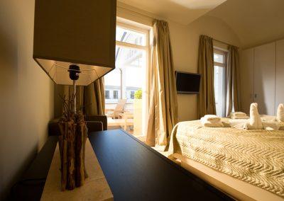 Eine gute Nacht hat man auch im Hochsommer, dank der Klimaanlage in allen Räumen