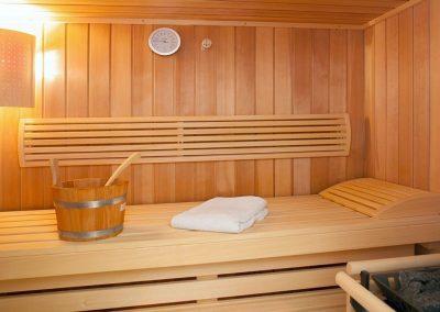 Die Sauna im Untergeschoss des Hauses