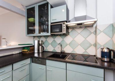 Die kleine, aber feine Küche.