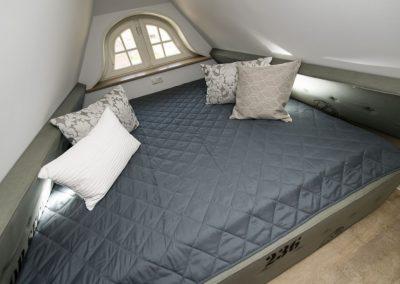 Das zweite Kajütenbett im Dachgeschoss. Ein Traum für Kinder.