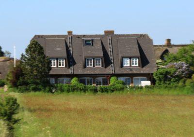 Die Rückansicht des Ferienhaus Arichsem in Archsum