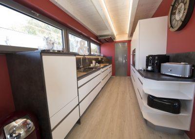 Blick in die exklusive Küche