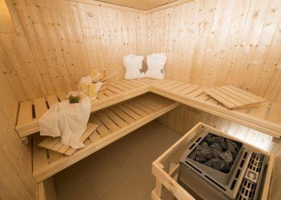 Zeit zum Entspannen: in der hauseigenen Sauna