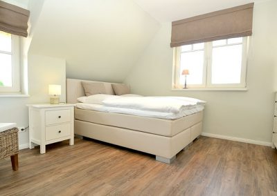 Das Sclafzimmer 2 mit seitlichem Meerblick