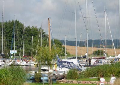 Der Yachthafen in Seedorf ist unter Seglern sehr beliebt.