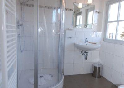 Das Duschbad im Obergeschoss.