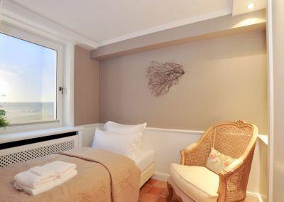 Im zweiten Schlafzimmer steht ein Einzelbett zur Verfügung.
