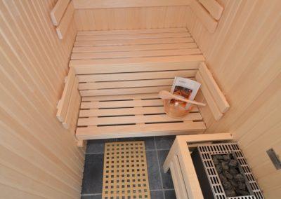 Eine eigene Sauna im Penthouse tut gut an kühleren Tagen.
