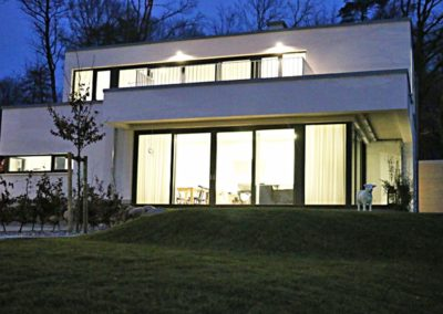 Das Architektenhaus ist auch bei Nacht schön anzusehen.