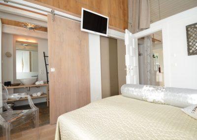 Das 2. Schlafzimmer mit eigenem Flachbildschirm