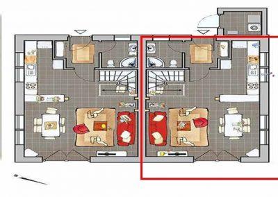 Der Grundriss im Erdgeschoss