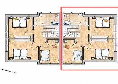 Der Grundriss im Obergeschoss