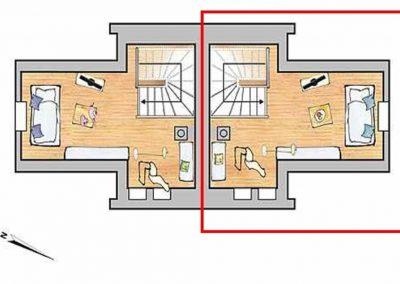 Der Grundriss im Dachgeschoss
