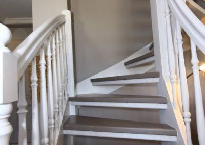 Der Treppenaufgang ins Schlafzimmer des Domizils