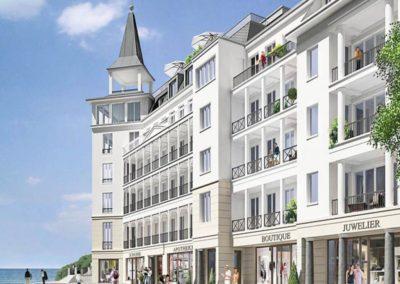 Der Neubau First in prachtvoller Bäderarchitektur.