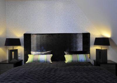 Wir wünschen eine gute Nacht im komfortablen Doppelbett.