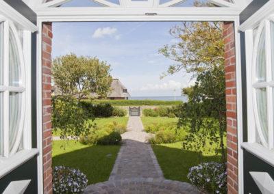 Watt für ein Blick! Der Blick auf das Wattenmeer vom Hauseingang.