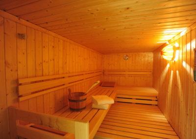 Entspannen Sie in einer von zwei Saunen.