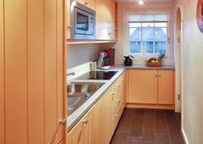 Die Einbauküche im Obergeschoss.