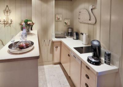 Eine kleine, aber feine Küche.