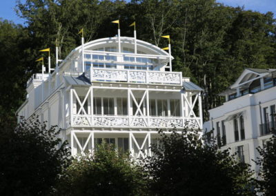 Die in Bäderarchitektur errichtete Villa Johanna.