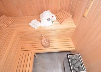 Wohltuend für Körper und Seele. Die hauseigene Sauna.