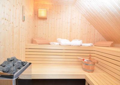 Entspannen in der eigenen Sauna.