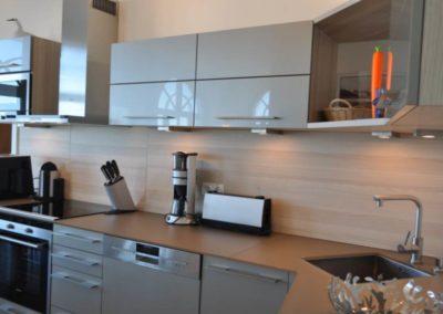 Die moderne Küche mit Elektrogeräten von Siemens.