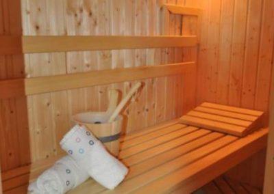Die wohnungseigene Sauna in der Ferienwohnung Hohe Düne.
