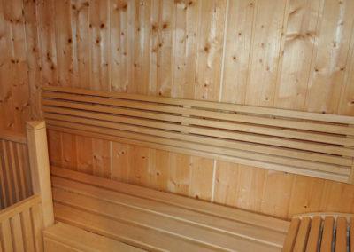 Eine wohnungseigene Sauna befindet sich im Penthouse.