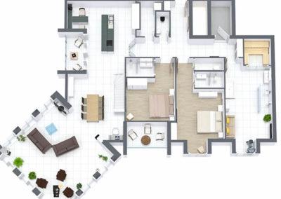 Viel Platz und Freiraum auf über 215 qm.