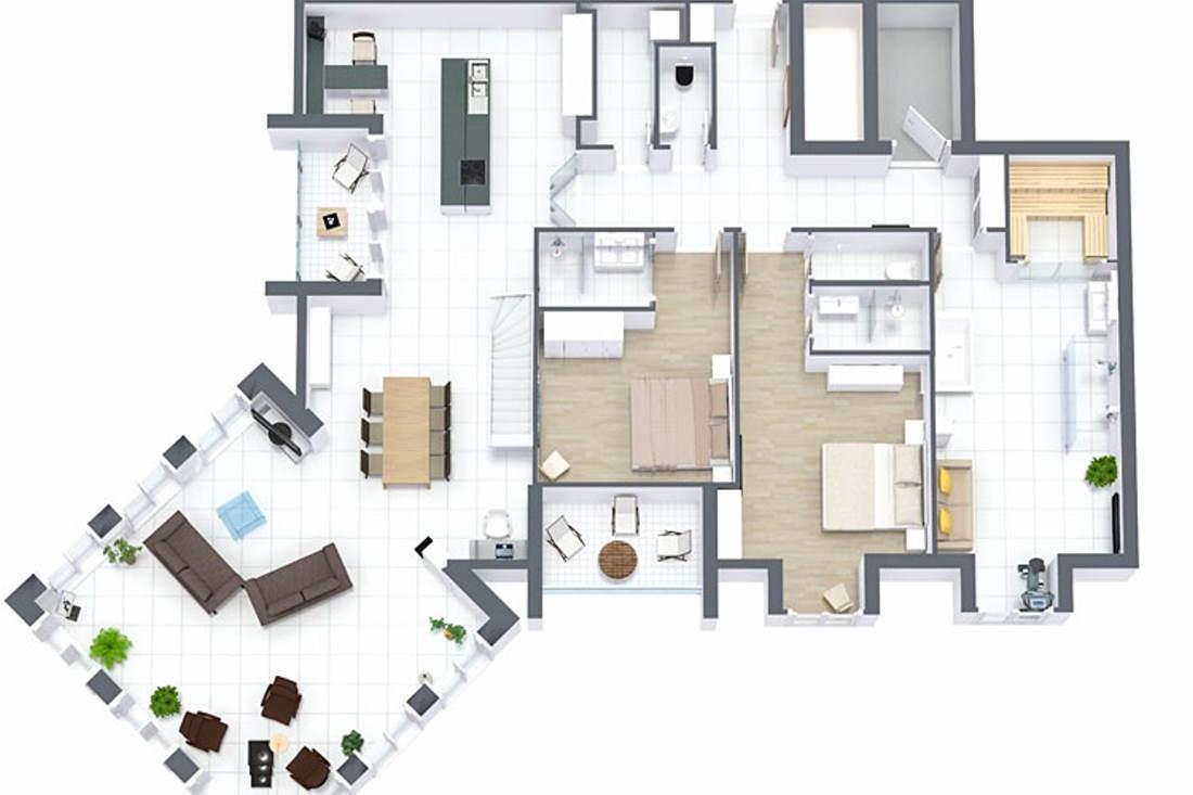 luxus penthouse meerblick in sellin f r 6 personen mit pool sauna. Black Bedroom Furniture Sets. Home Design Ideas