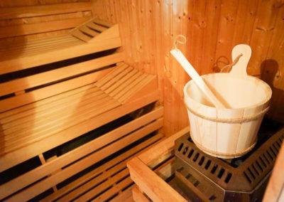 Wohltuend für Geist und Körper: die Sauna.