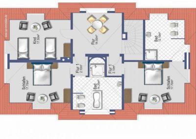Grundriss im Obergeschoss (Angaben ohne Gewähr)