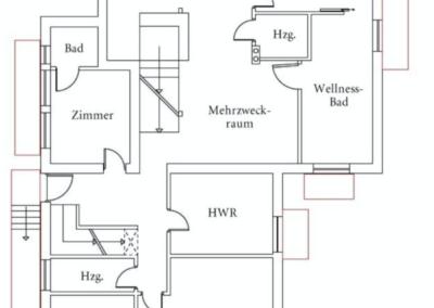 Der Grundriss im Untergeschoss